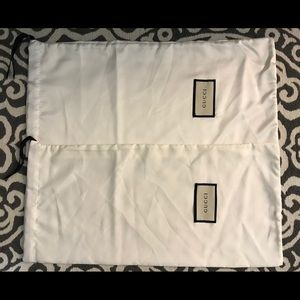 2 Authentic GUCCI Shoes Dust Bags